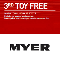 Myer 3rd Toy Free April 2015